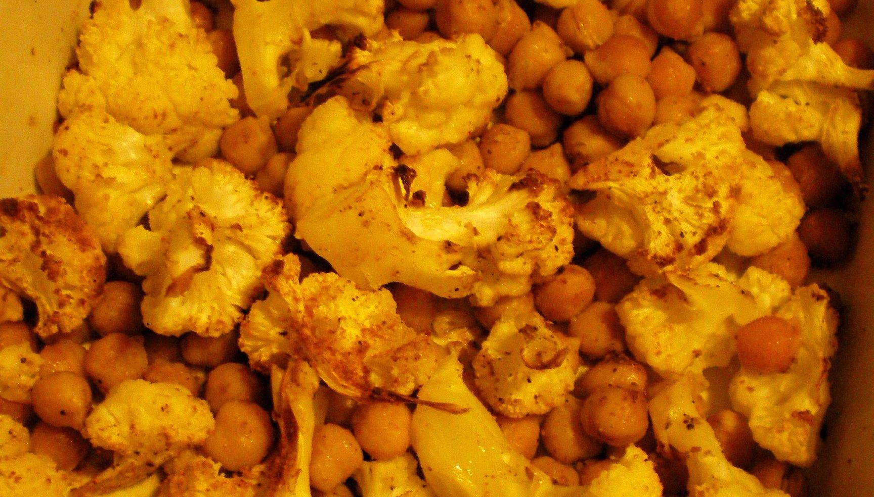Blomkål og kikærter