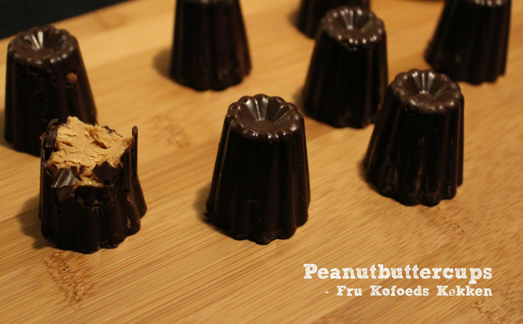 Hjemmelavede peanutbuttercups