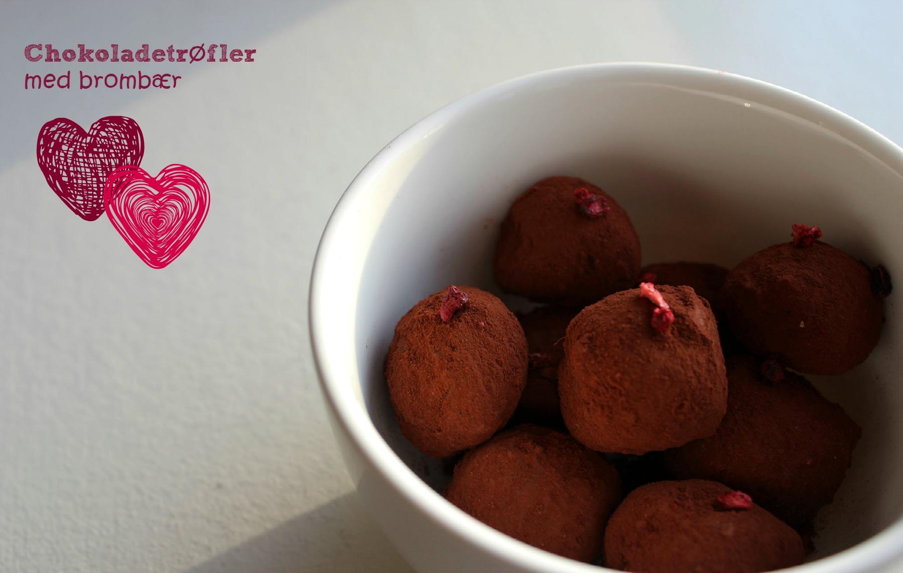 Chokoladetrøfler med brombær