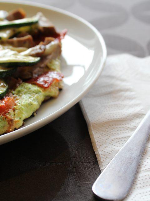Pizzaomelet med broccoli