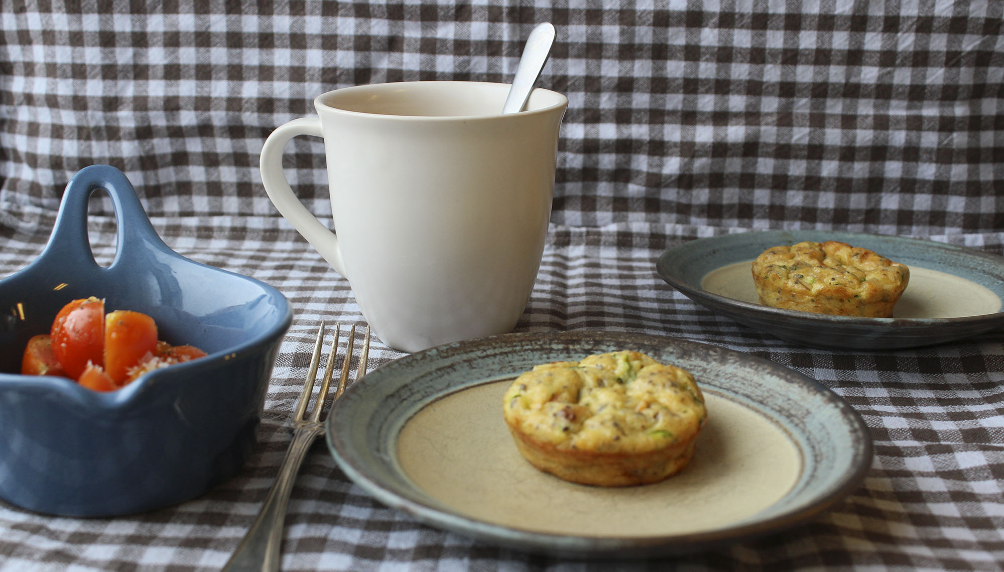 Hurtig lchf-morgenmad: Squashmuffins med bacon og tomat