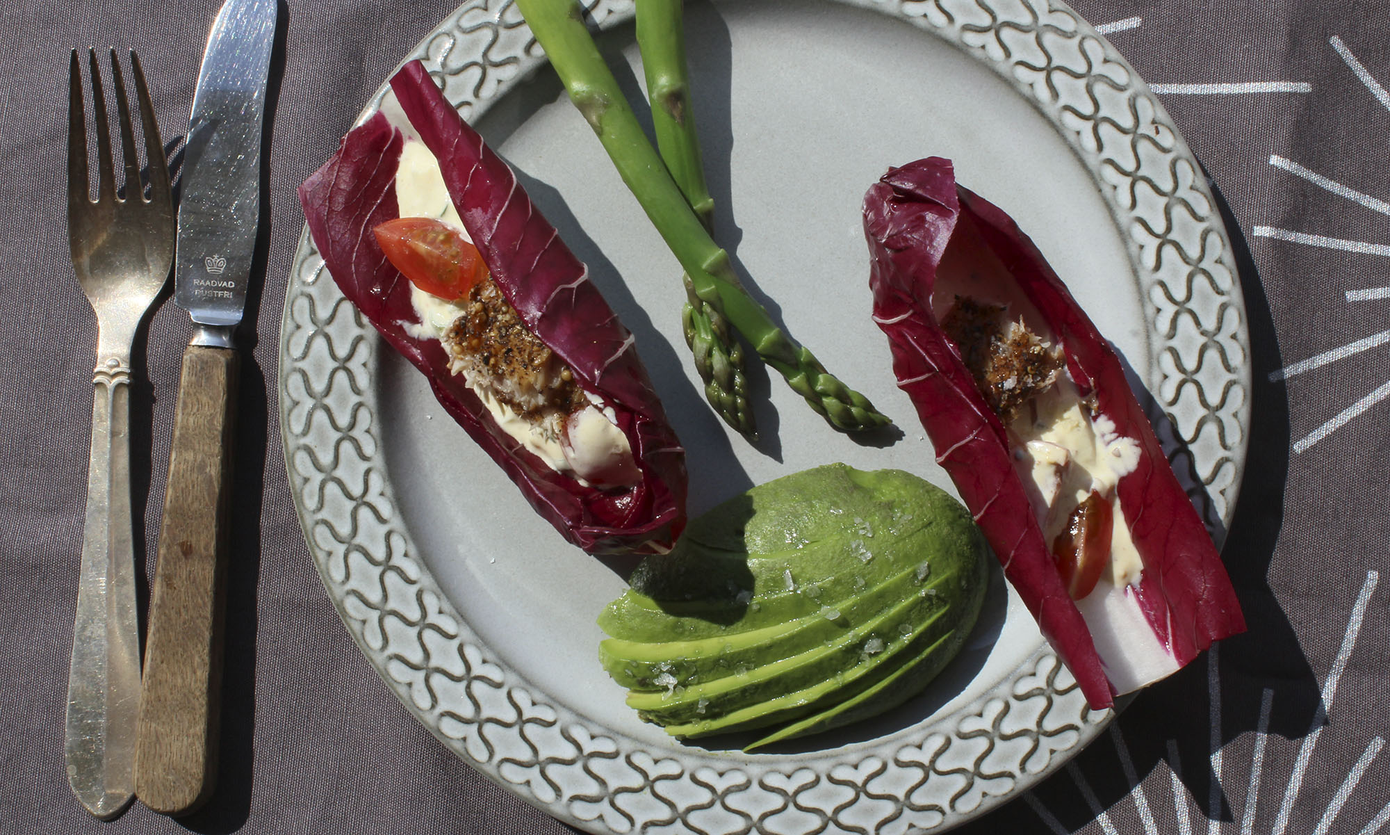 Frokosttallerken med æggesalat