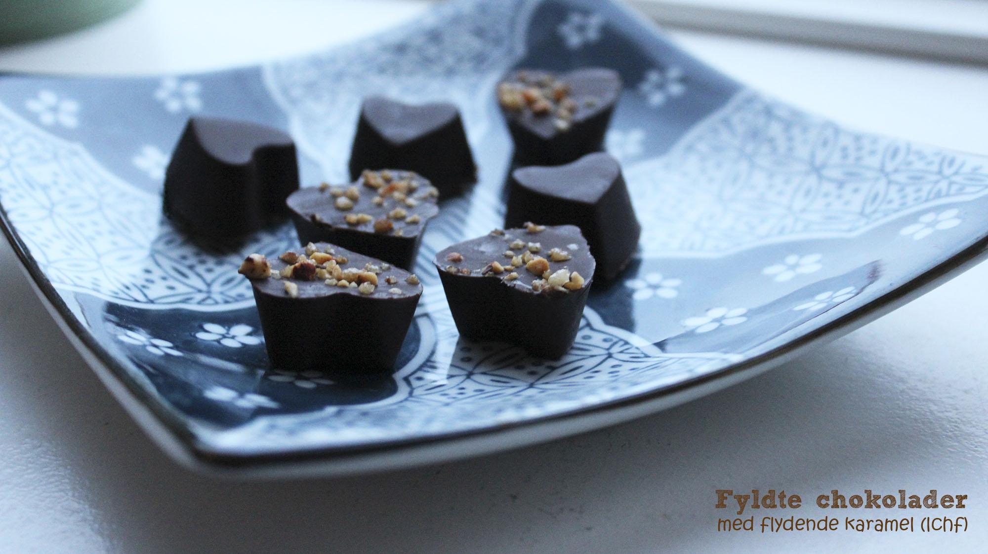 Fyldte chokolader med flydende karamel (lchf)