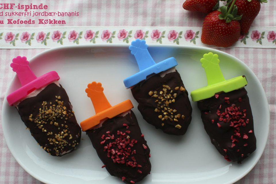 LCHF-ispinde med sukkerfri jordbær-bananis