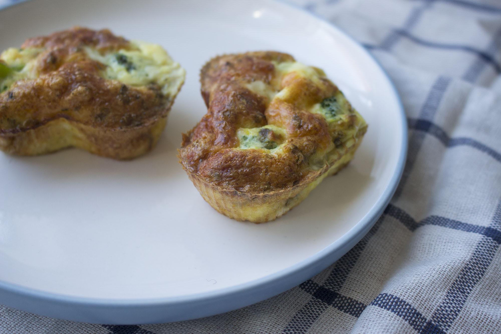 Lchf-morgenmad til folk på farten - broccolimuffins