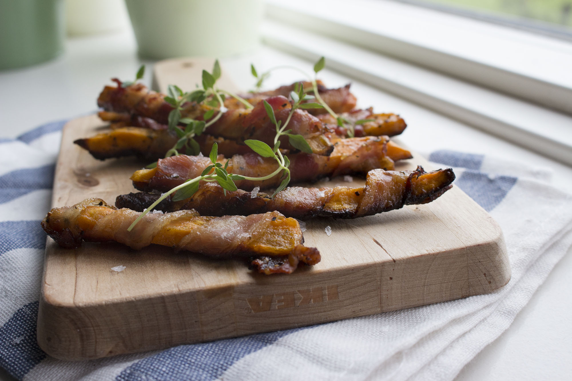 Sweet potato fritter med bacon