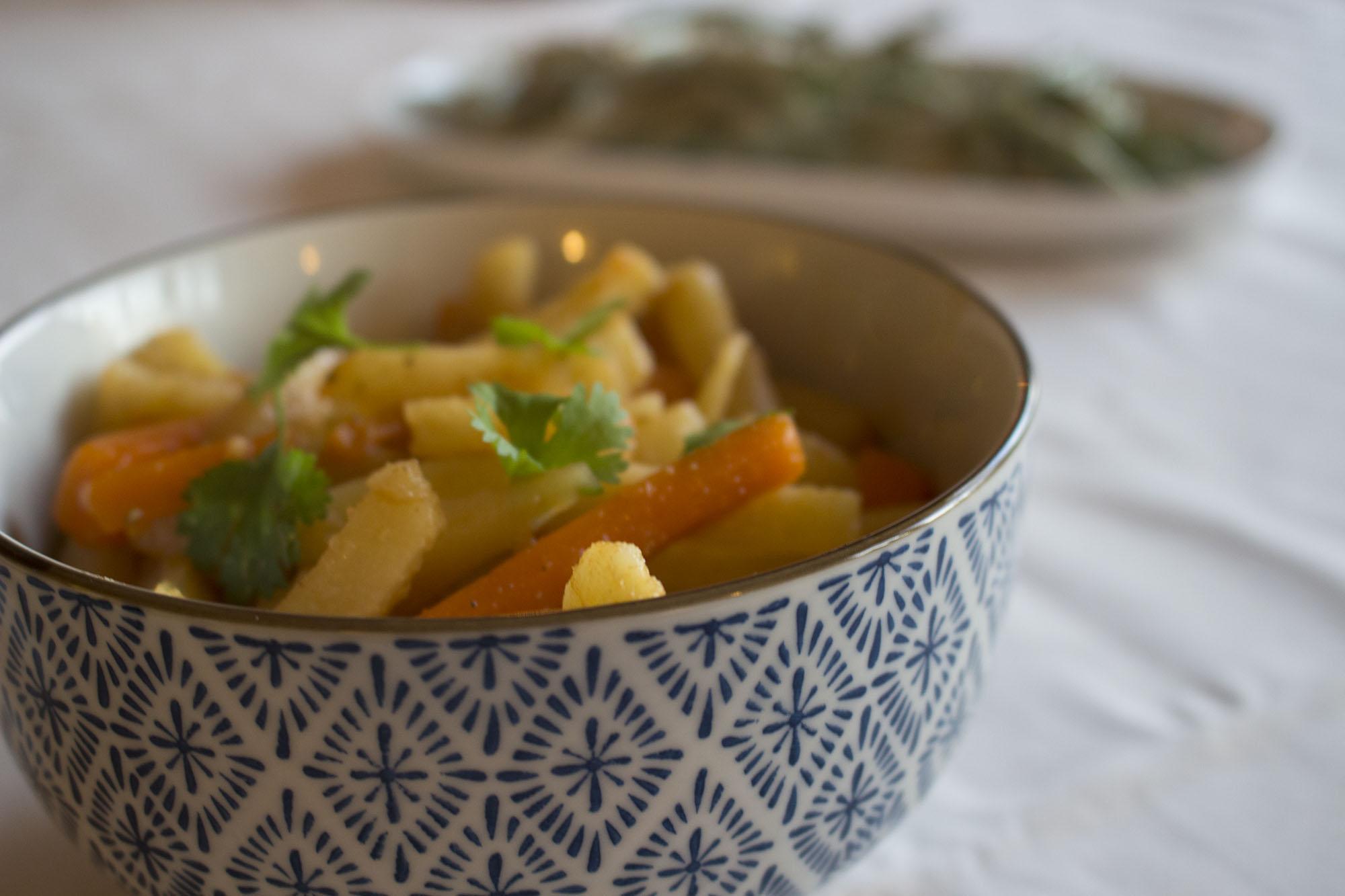 Varm rodfrugtssalat med spidskommen