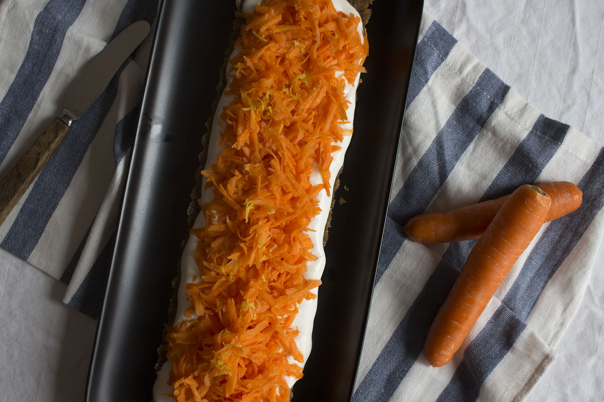 Rå gulerodskage