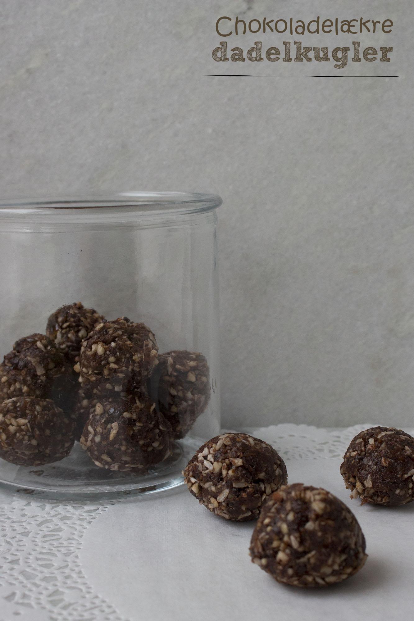 Chokoladelækre dadelkugler