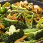 Smørstegte grøntsager