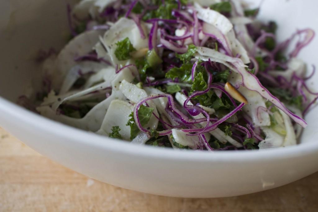 Salat med fennikel og masser af knas