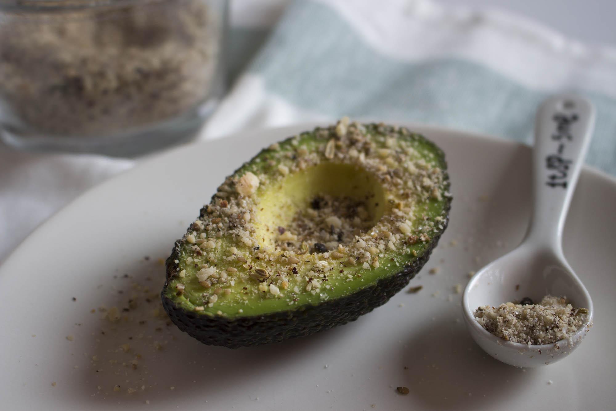 Dukkah og avocado