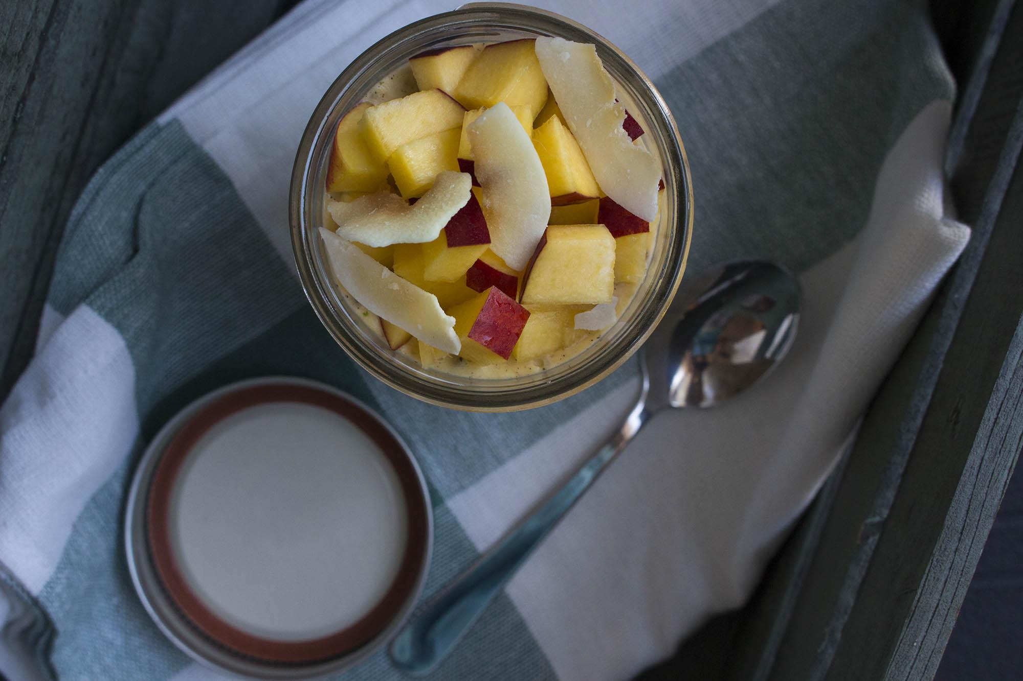 Chiagrød med melon og kokos