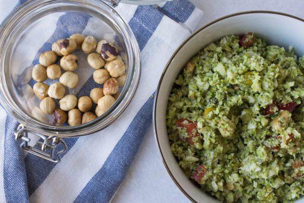Broccolicouscous med pestodressing