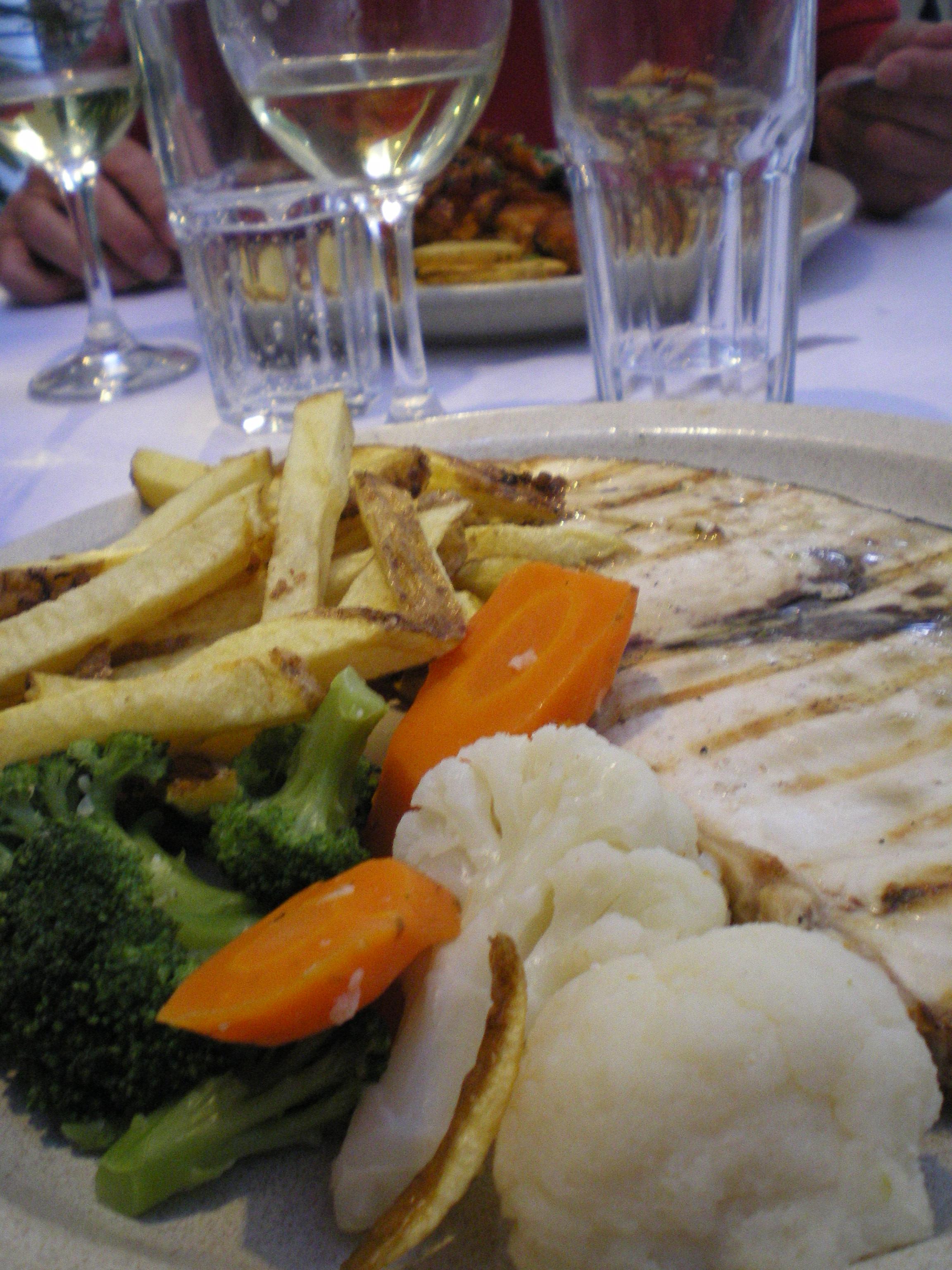 Grillet sværdfisk