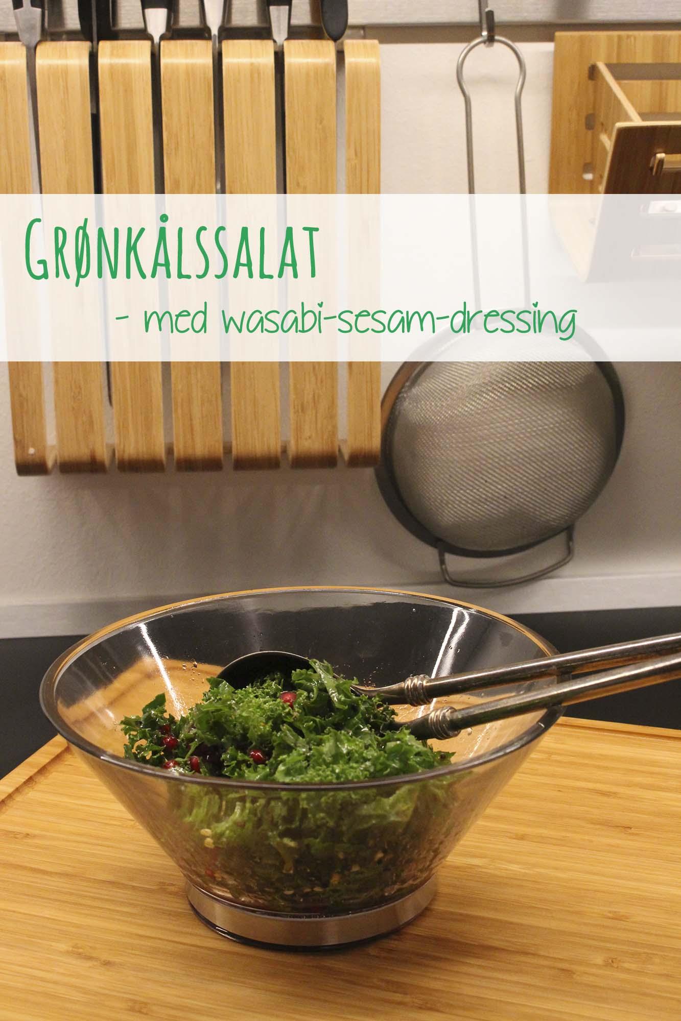 Grønkålssalat med wasabi-sesamdressing