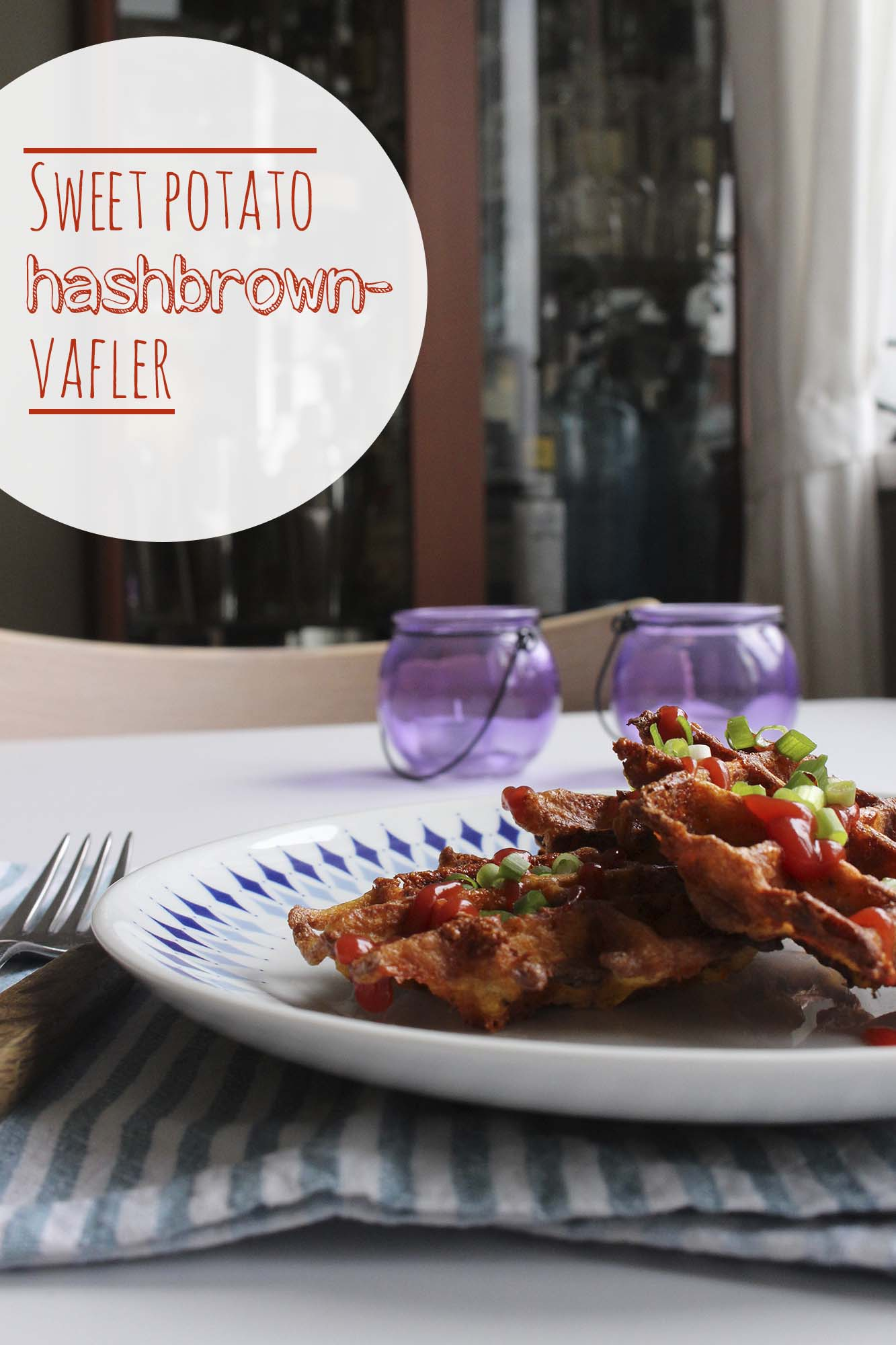 Sweet potato hashbrown vafler