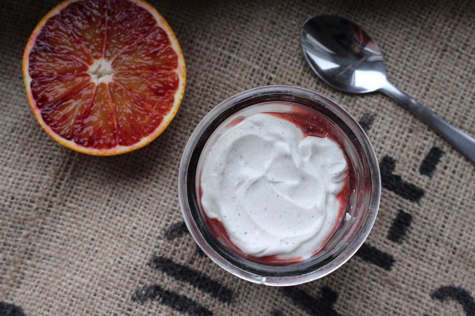Chiagrød med blodappelsin