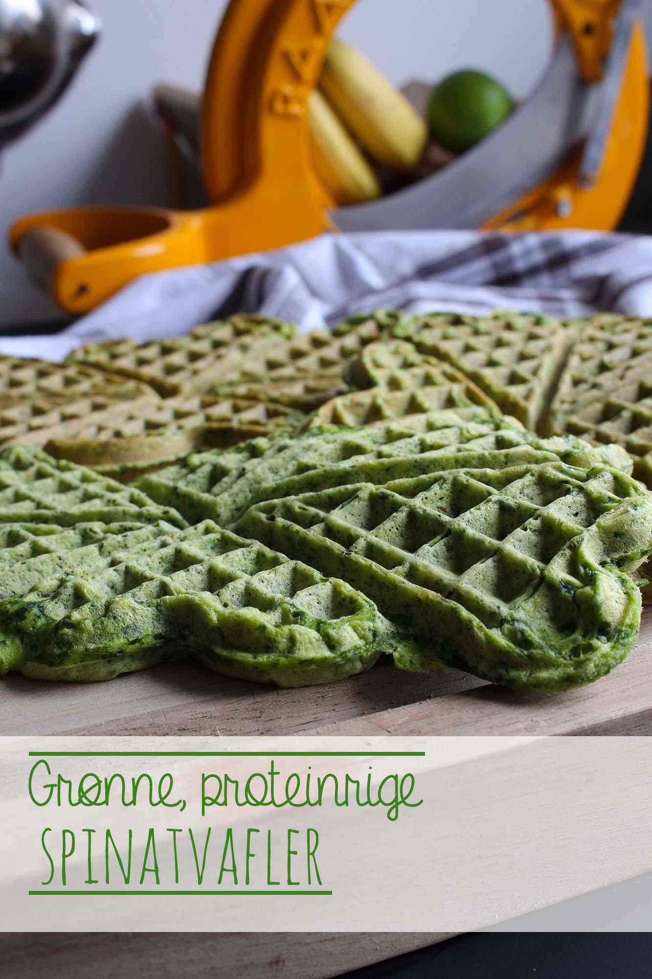 Grønne Proteinrige Spinatvafler Fru Kofoeds Køkken