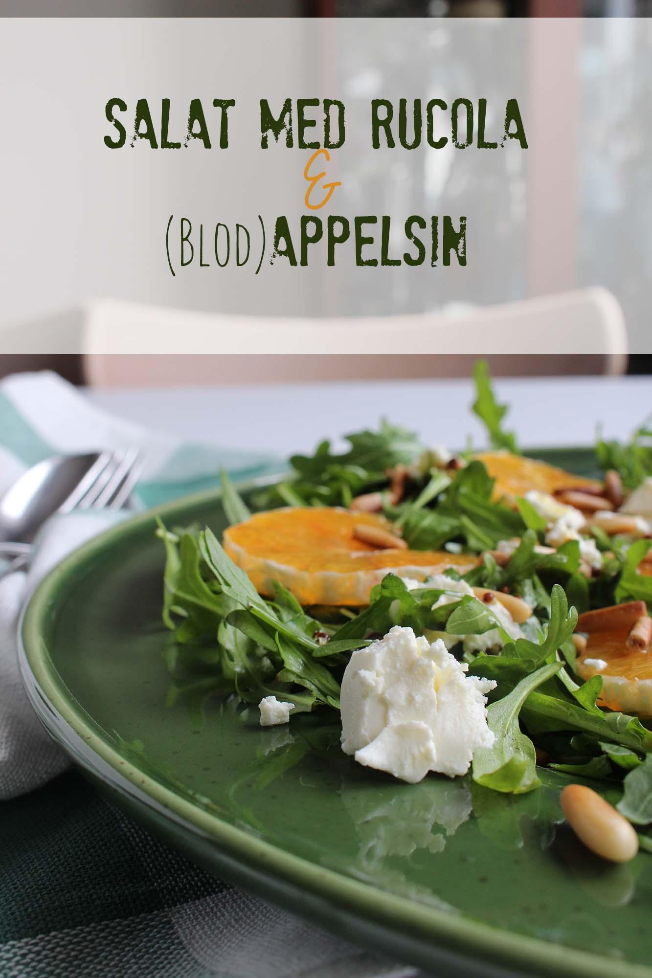 Salat med rucola og appelsin