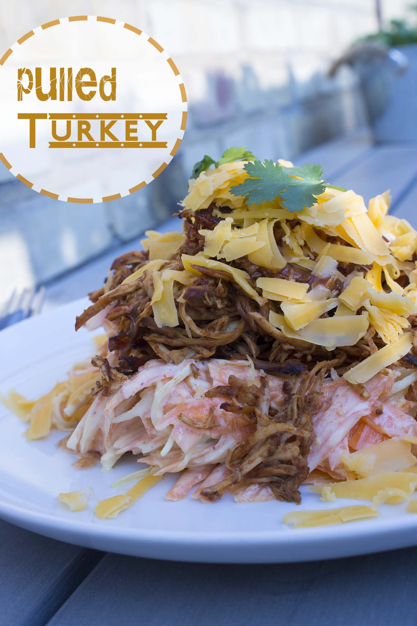 Pulled turkey i crockpot