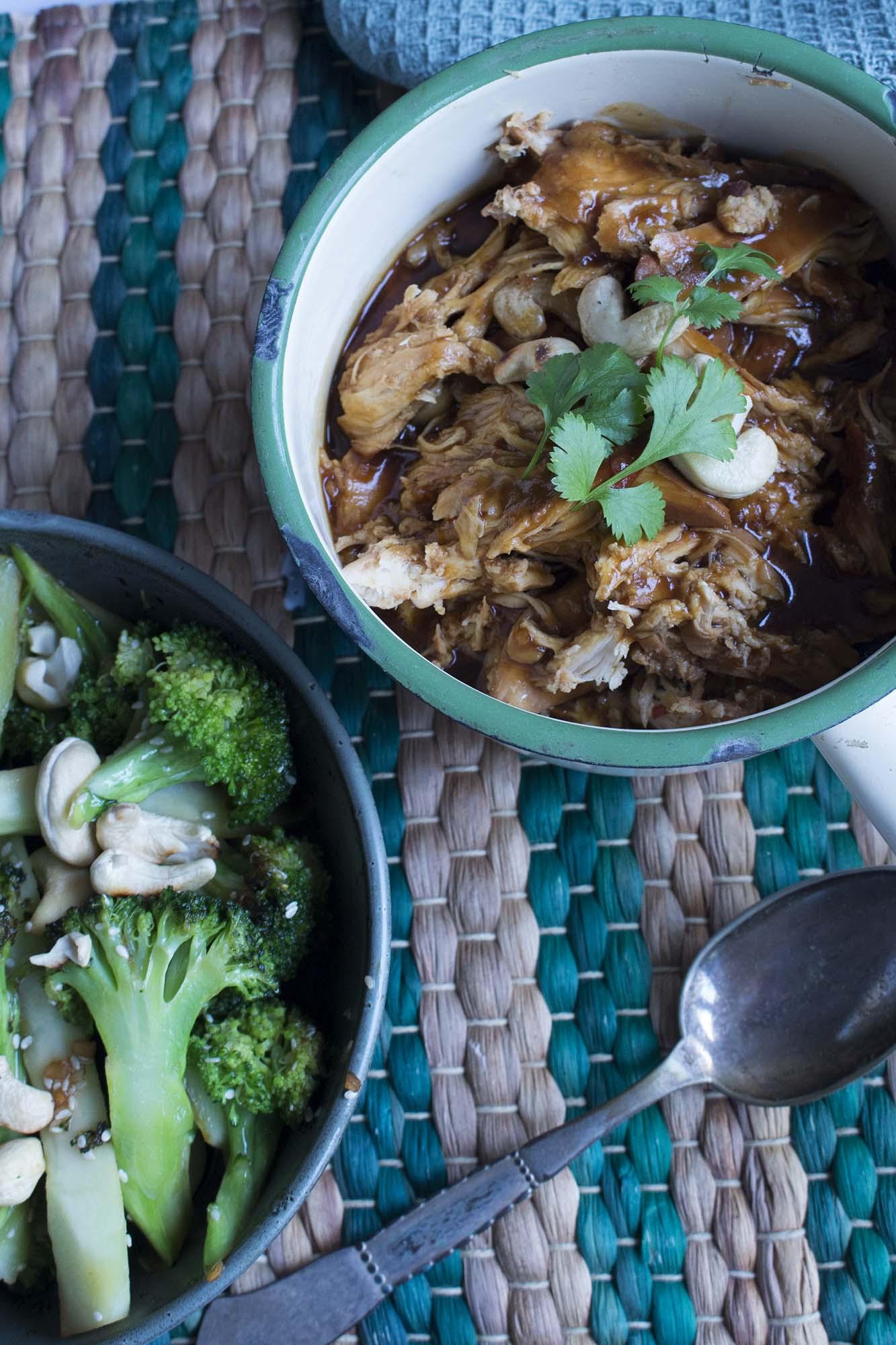 Asiatisk kylling i crockpot