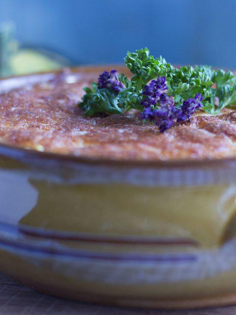 Blomkålsgratin med græskar og 3 slags ost