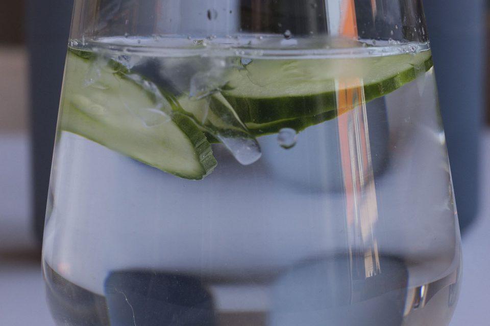 Et glas vand