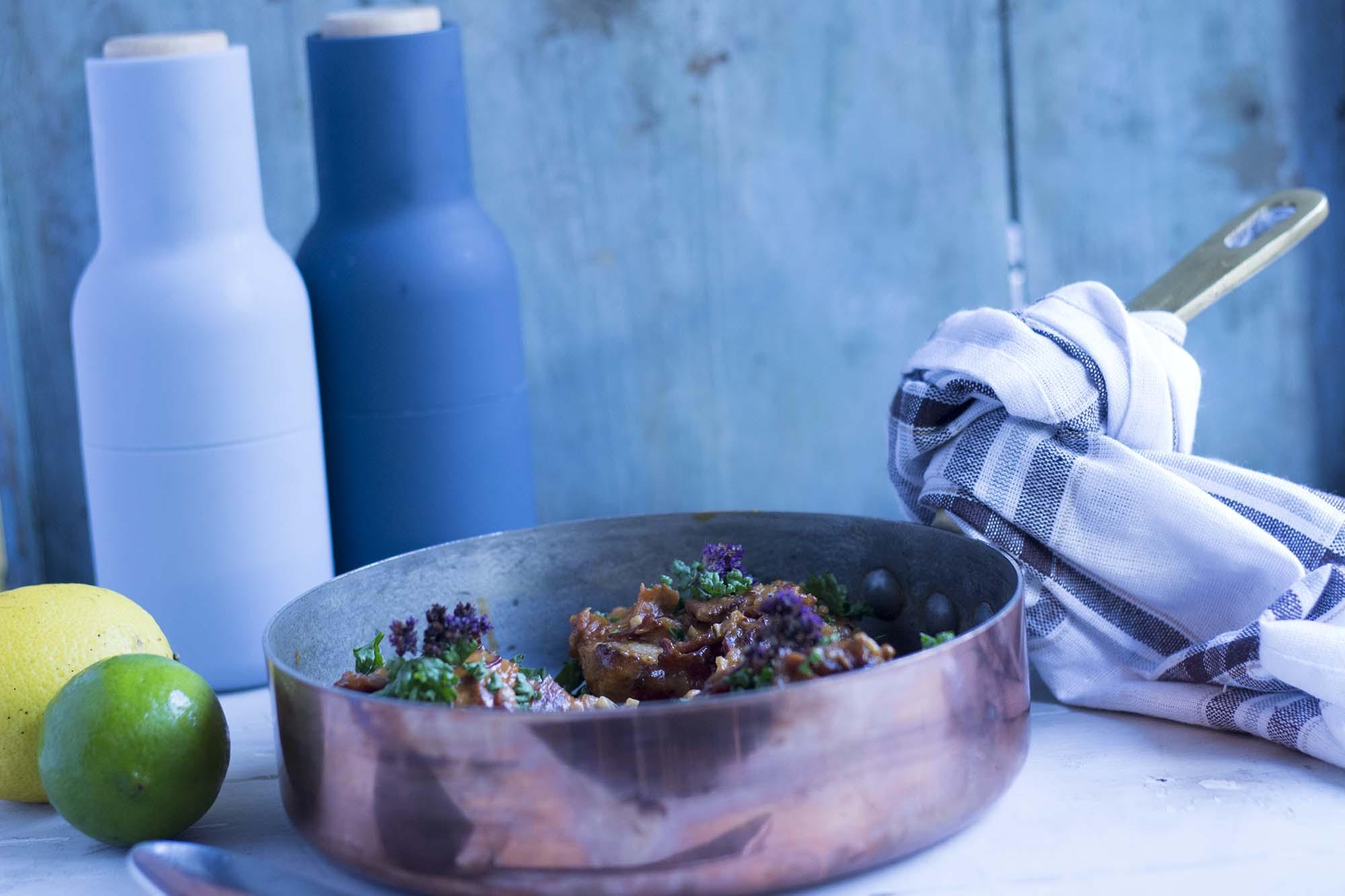 Kylling i bacon og fennikelsovs