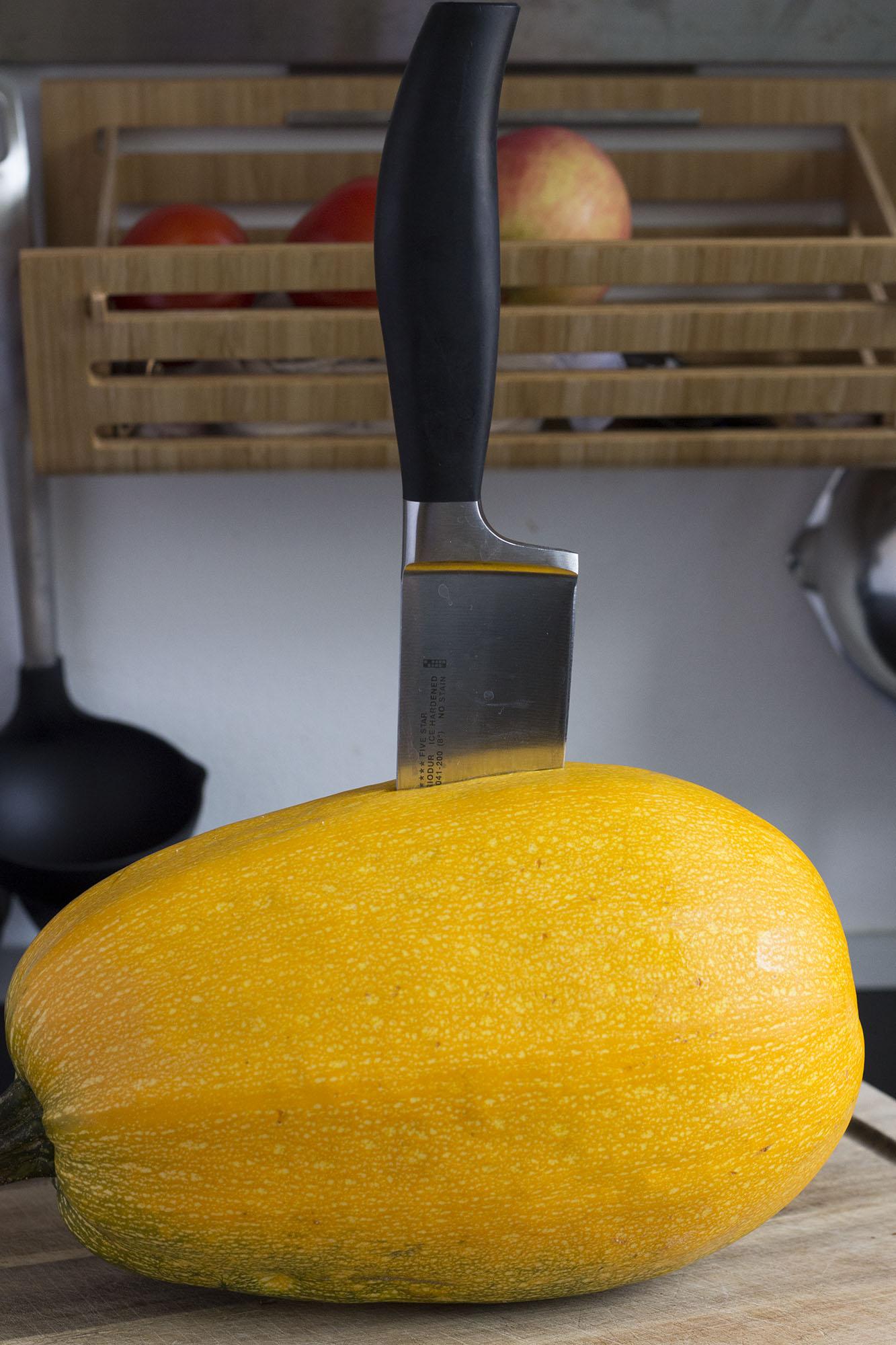 Tilberedning af spaghetti squash
