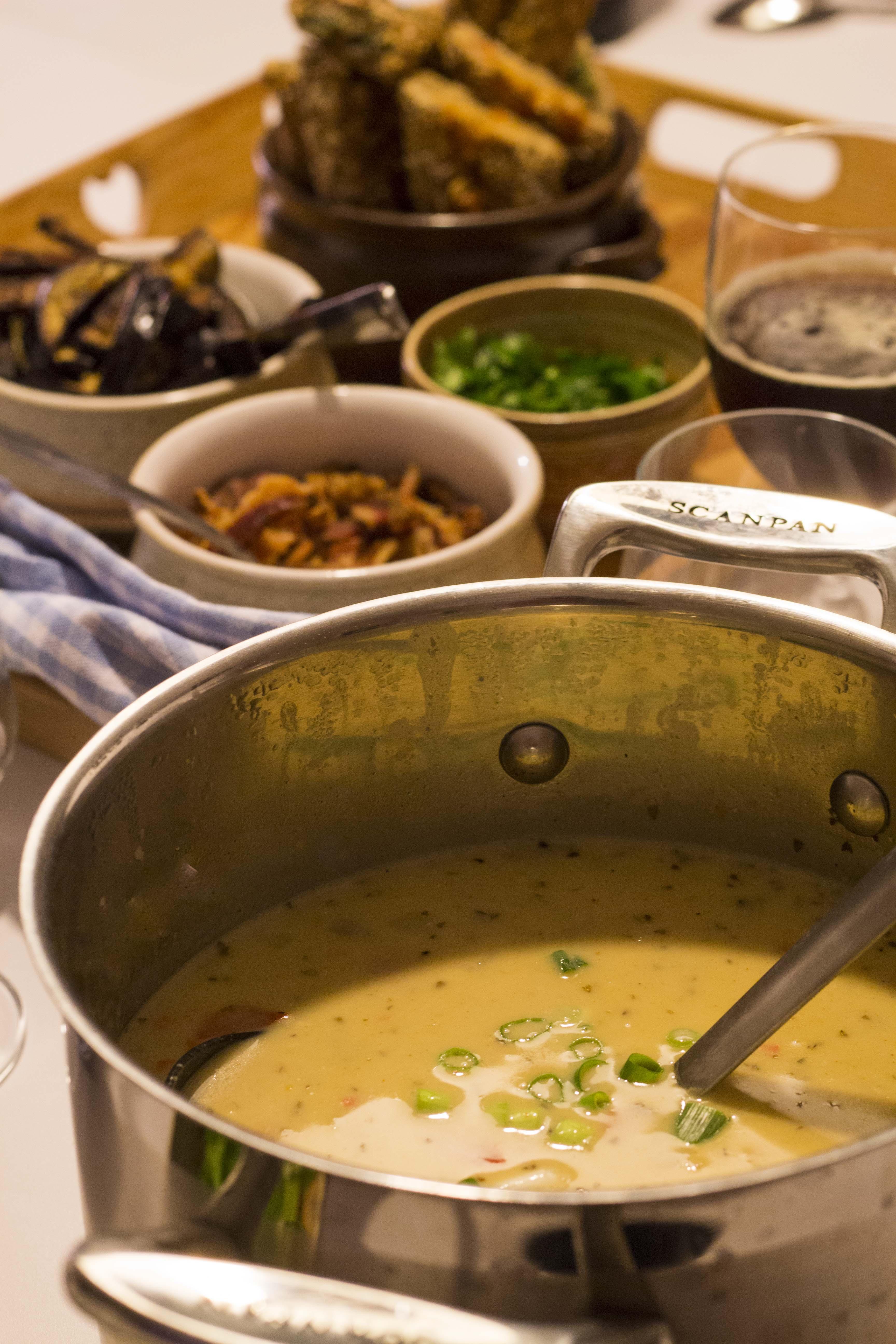 Cremet kyllingesuppe i crockpot
