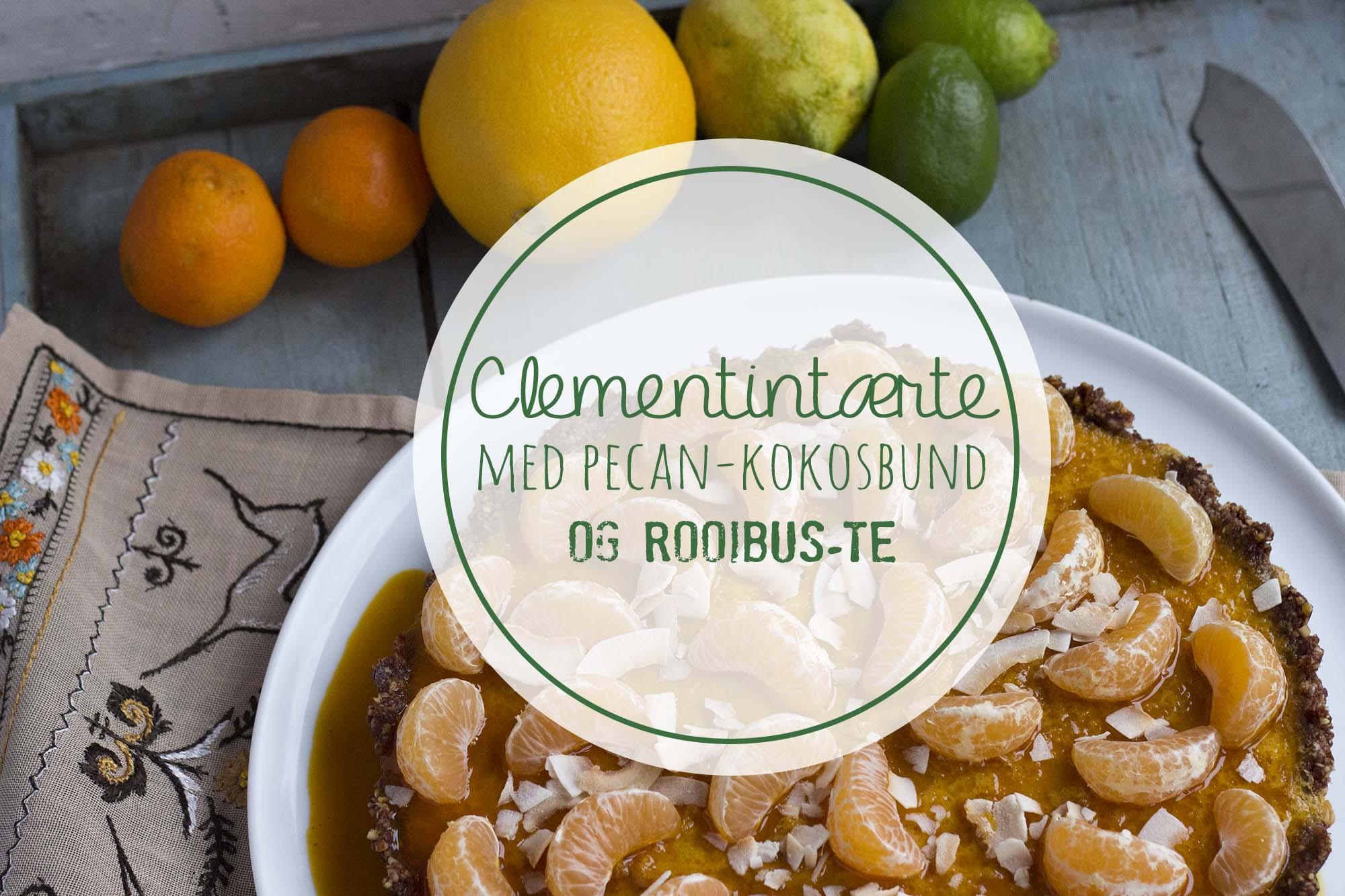 Clementintærte med pecan-kokosbund og rooibus-te