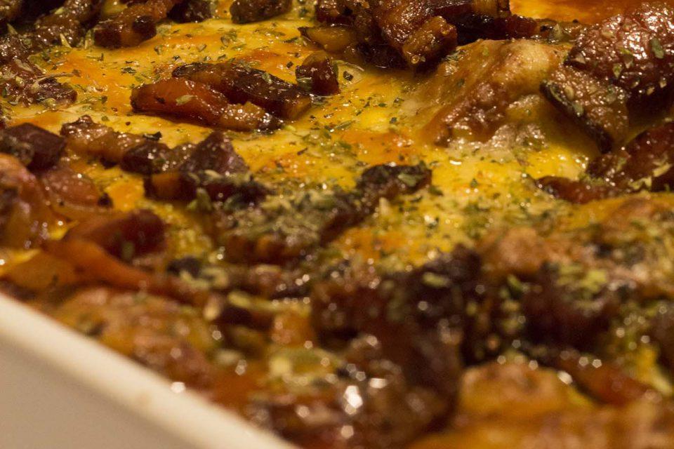 Nem lasagnette med kødboller