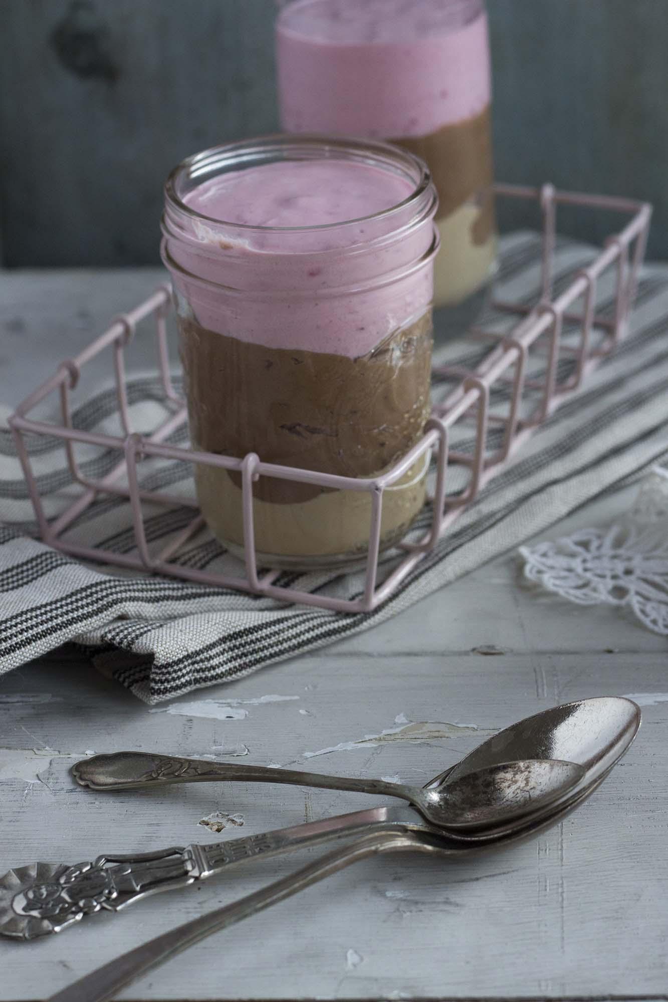 Tricolore-chokolademousse