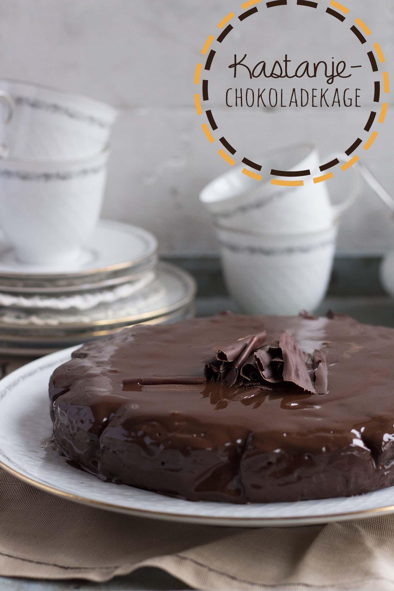 Kastanje-chokoladekage