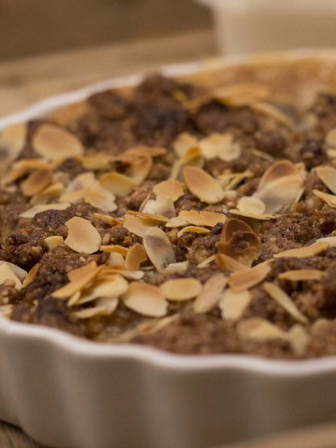 Hurtig æblecrumbletærte