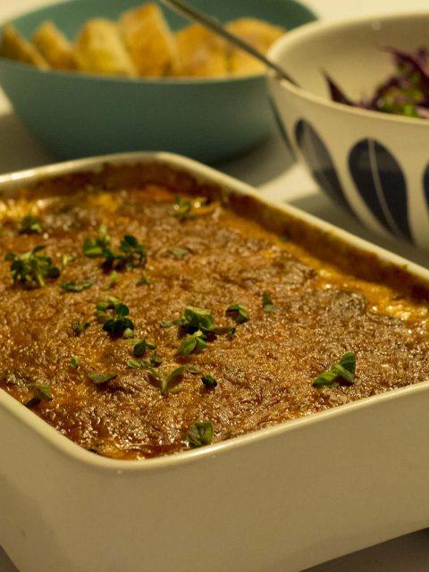 Moussaka - tips til at bruge rester af kødsovs