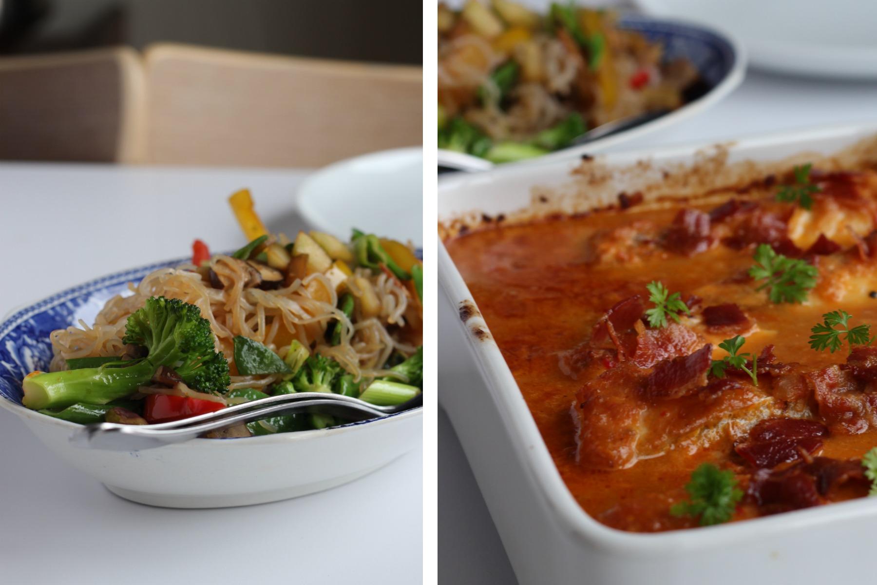 Torsk i curry og lynsvitsede grøntsager