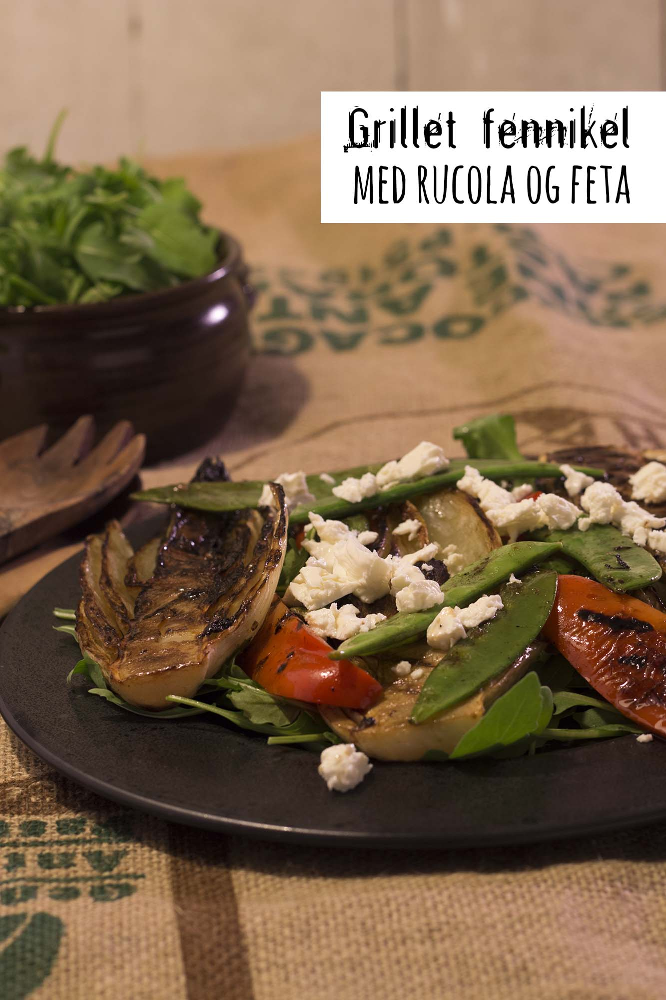Grillet fennikel med ruccola og feta