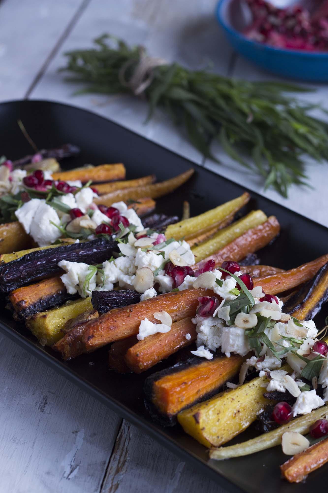 Nytårssalat_bagte gulerødder med estragon